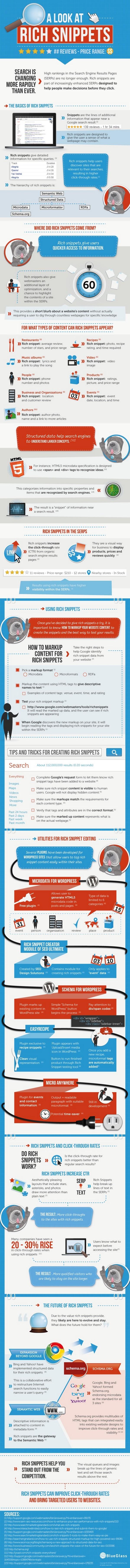Infographie optimiser les rich snippets Google