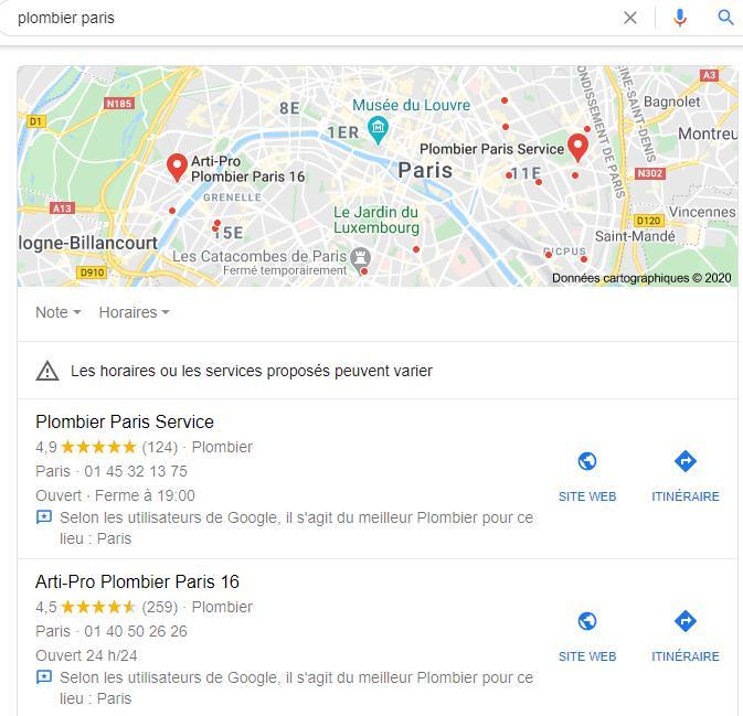 Référencement local dans Google