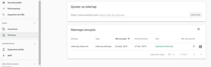 Référencer sitemap xml dans Google search console