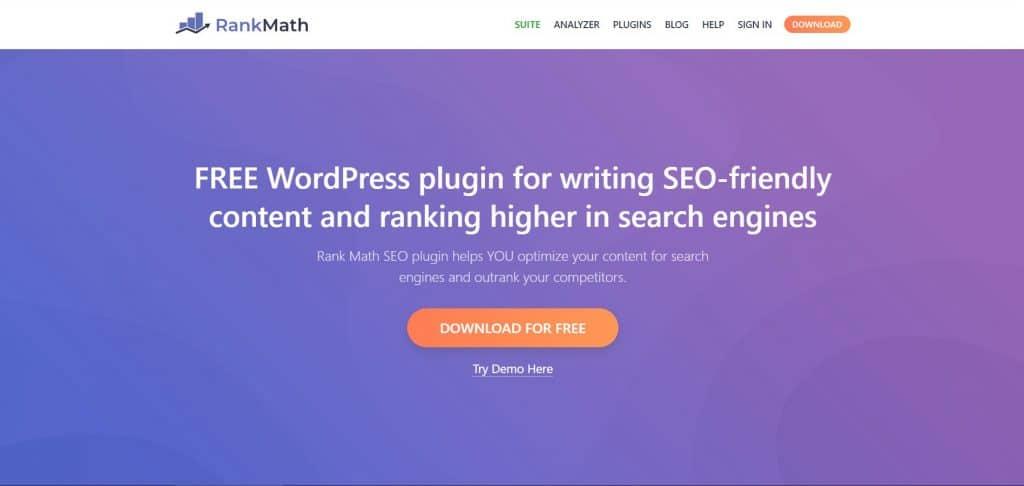 Rankmath plugin SEO wordpress