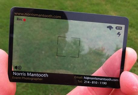 Carte de visite transparente